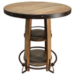 Crafters and Weavers - Bayshore Pub Table - Bayshore Pub Table / Bar Table with Foot Rest and Shelving