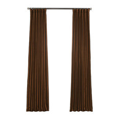 "Vintage FauxDupioni Silk Curtain, Single Panel, Copper Kettle, 50"" X 108"""