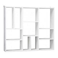 - Bibliothèque 11 compartiments blanc - Bibliothèque