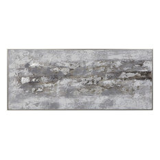 Uttermost Weathered Stone Hand Painted Canvas