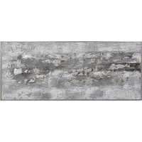 Weathered Stone Hand Painted Canvas, Natural