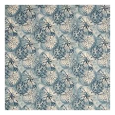 Sand Dollar Indigo Nature Print Blue Pillow Sham Cotton Linen, Standard, Tailore