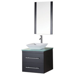 Good Modern Bathroom Vanities And Sink Consoles Design Element Portland Wall Mounted Single Vessel Sink Vanity