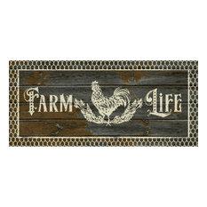 "Cozy Cabin Farm Life Dark Gray Lodge Accent Rug, , 20""x44"""