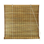 "Burnt Bamboo Roll Up Blinds, Tortoise, 48""x72"""