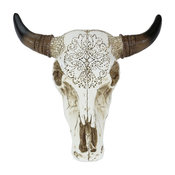 Tooled Faux Cow Skull