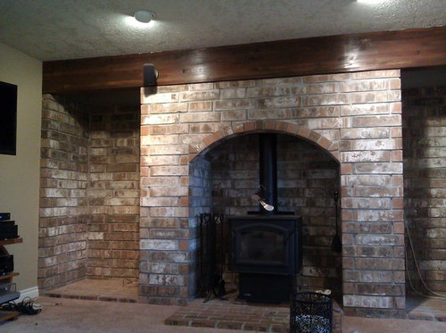 Need Advice On Updating A Huge Fireplace