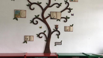 Mural árbol para biblioteca