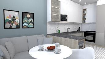 Дизайн-проект двухкомнатной квартиры в п. Исаково Калининградская обл.