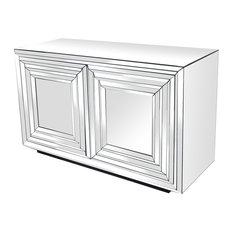Millenium 2 Door Mirrored Cabinet