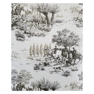 Horse and Hound Equestrian Hunting Scenes Wallpaper, Single Roll