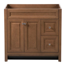 Home Decorators Collection   Home Decorators Collection Brinkhill 36 In.  Vanity Cabinet Only In Toffee