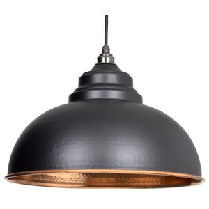 From The Anvil Harborne Pendant, Black Hammered Copper