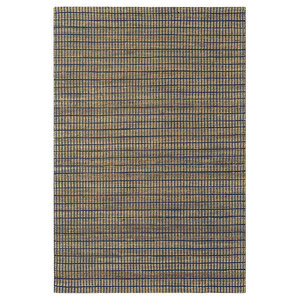 Ranger Indigo Rectangle Plain/Nearly Plain Rug 100x150cm