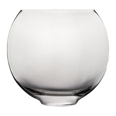 """Moon Shaped Oval Glass Vase, 10"""""""