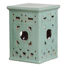 Lattice Garden Seat, Turquoise