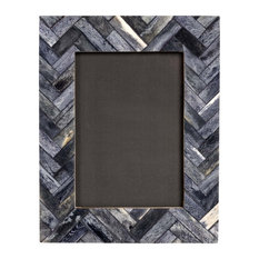 Wood Panel Picture Frame, Blue, 15x20 cm