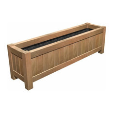 Adezz Hardwood Planter, Valencia Trough, 120x50x60cm