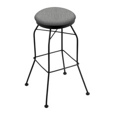 3020 25-inch Swivel Counter Stool With Black Wrinkle And Graph Alpine Seat
