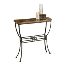 High Quality Hillsdale Furniture   Hillsdale Lakeview Slate Top Console Sofa Table In  Brown And Medium Oak