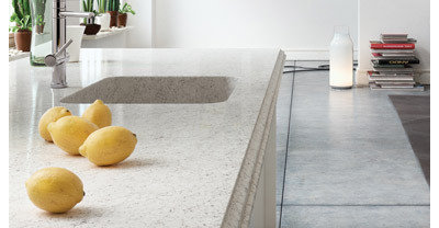 Kitchen Countertops Silestone Nebula with Integrated Quartz Sink