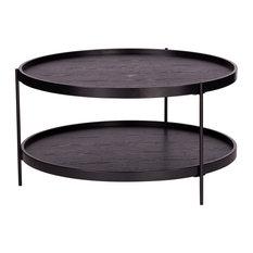 Vestal Round Farmhouse Style Cocktail Table