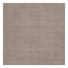 Surya - Surya Mystique 8' Square Hand Loomed Wool Rug, Gray - Area Rugs