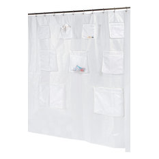 Pockets Peva Shower Curtain, Super Clear   Shower Curtains