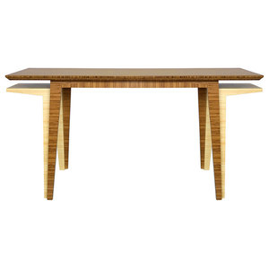 Large Convertible Craft Desk, Amber Bamboo - Desks And ...