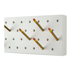 Pencil Pegs Coat Rack, With Rubber