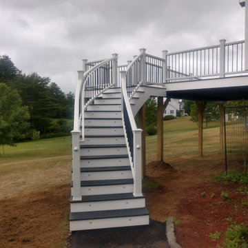 2020 Somersworth Trex deck with Custom Curve Staircase