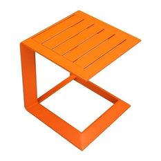 Aluminum Side Table, Orange