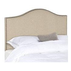 Safavieh Connie Hemp Headboard With Brass Nail Head Bed Full
