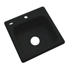 Aspen 1-Hole Bar Sink, Black