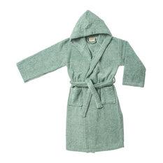 Superior Egyptian Cotton Kids Hooded Unisex Terry Bath Robe, Small/Medium, Sag