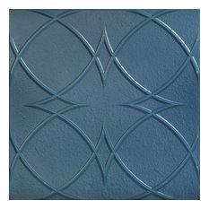 "Circles and Stars, Styrofoam Ceiling Tile, 20""x20"", #R82, Van Deusen Blue"