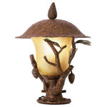 Kalco Lighting - Kalco Lighting Ponderosa Outdoor 1-Light Pier-Post Lantern, Ponderosa - The Ponderosa Outdoor Collection is a playful interpretation of traditional outdoor lighting. Featuring Kalco's exclusive Ponderosa finish and Faux Marble shades, the decorative natural elements these lanterns are at once rustic and fashionable.