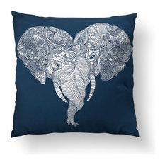 """Punch Trunk Love Throw Pillow, 16""""x16"""", Stuffed"""