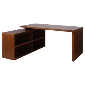 Essex Cherry Oak Work Desk and Shelving Unit
