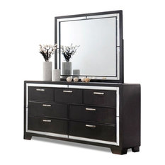CTC Furniture Inc.   Zane Dark Charcoal 7 Drawer Dresser And Mirror    Dressers