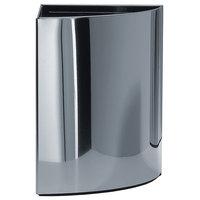 DWBA Round Small Corner Open Top Wastebasket/Trash Can, Chrome
