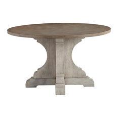 """Dakota Grey 52"""" Round Pedestable Table"""