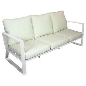 Outdoor 3-Seat Bolonia Sofa, White