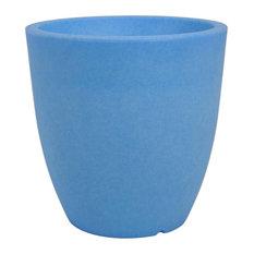 Orione Alto Tall Round Pot 40 cm.fluo, Blue