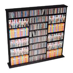 Prepac Furniture - Triple Width Wall Storage, Black - Media Racks and Towers