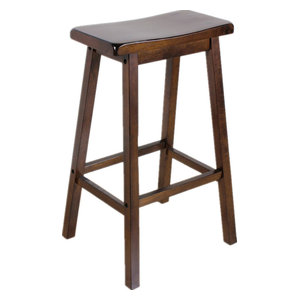 Swell 24 Counter Height Solid Wooden Saddle Seat Stools Set Of 2 Creativecarmelina Interior Chair Design Creativecarmelinacom