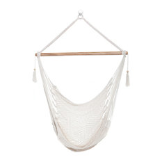 White Hammock Chair, Hanging Chair, Swing Chair, Bright White