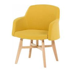Ystad Upholstered Armchair, Yellow