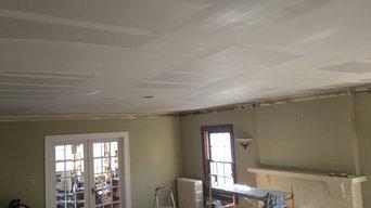 sheetrock ceiling overlay over cracked plaster