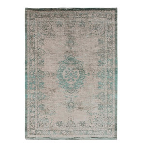 Fading World Area Rug, Jade and Oyster White, 80x150 cm